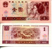 1 юань 1996 год Китай