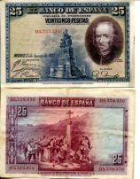 25 песет 1928 год Испания