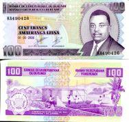 Бурунди банкнота 100 франков 2007 год