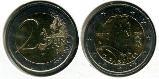 2 евро 2012 год (Д. Пасколи) Италия