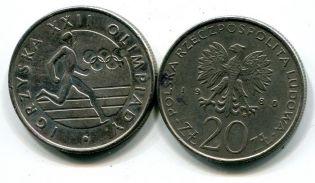 20 злотых 1980 год (Олимпиада в Москве) Польша