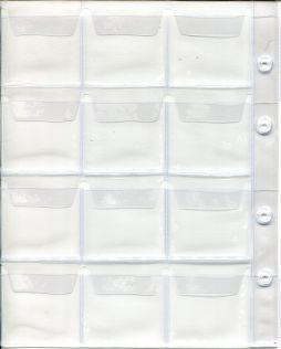 Лист в альбом для монет на 12 ячеек (формат Optima)