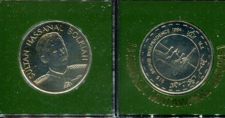 10 долларов 1984 год Бруней