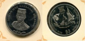 3 доллара 1997 год Бруней