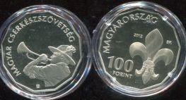 100 форинтов 2012 год (100 лет скаутам) Венгрия