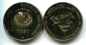 1 песо 1988 год (парусник) Доминиканская республика
