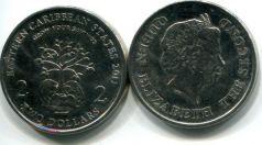 2 доллара 2011 год (вырасти дерево) Восточные Карибы