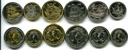 Набор монет острова Басас-да-Индия 2012 год (корабли)