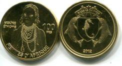 100 франков 2012 год (женщины Африки) Острова Басас-да-Индия