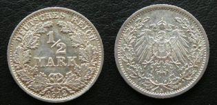 1/2 марки 1912 год А Германия