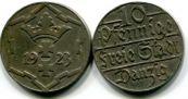 10 пфеннингов 1923 год Данциг (Пруссия)