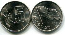 5 песо 1980 год Уругвай