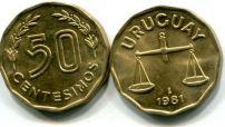 50 сентисимо 1981 год Уругвай