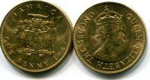 1 пенни 1967 год Ямайка