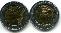 500 лир 1995 год FAO Сан-Марино