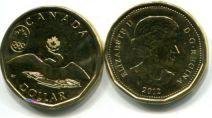 1 доллар 2012 год (талисман олимпиады - утка) Канада