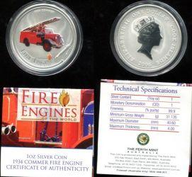1 доллар 2006 год (пожарная машина Коммер) Острова Кука