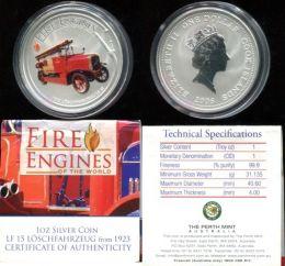 1 доллар 2006 год (пожарная машина Чифтэн) Острова Кука