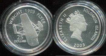 25 долларов 2003 год (Самолёт Wright Flyer) Соломоновы острова