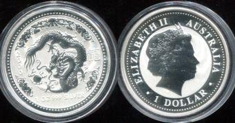 1 доллар 2000 год (миллениум) Австралия