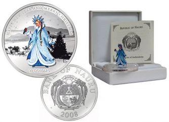 10 долларов 2008 год (снегурочка) трансформер Науру