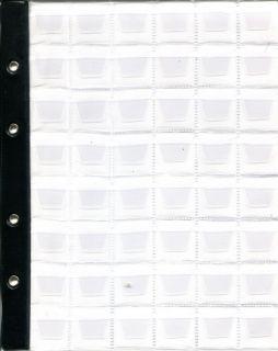 Лист в альбом для монет на 48 ячеек (формат Optima) с усиленной полосой крепления