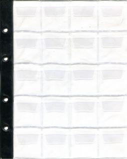 Лист в альбом для монет на 20 ячеек (формат Optima) без усиления