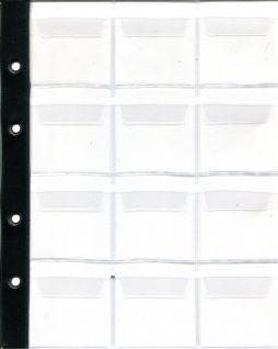 Лист в альбом для монет на 12 ячеек (формат Optima) без усиления