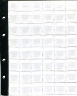 Лист в альбом для монет на 48 ячеек (формат Optima) без усиления