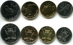 Набор монет Замбии 2012 год (птицы, животные)