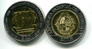 10 долларов 2015 год Уругвай