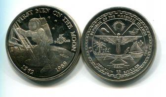 5 долларов 1989 год (первый человек на луне) Маршалловы острова
