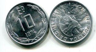 10 эскудо 1974 год Чили