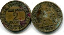 2 франка 1923 год Франция