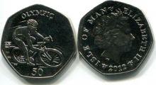 50 пенсов 2012 год (велогонки) Остров Мэн