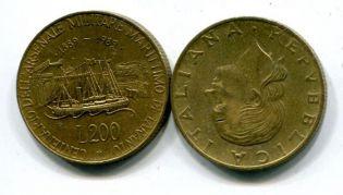 200 лир 1989 год Таранто Италия