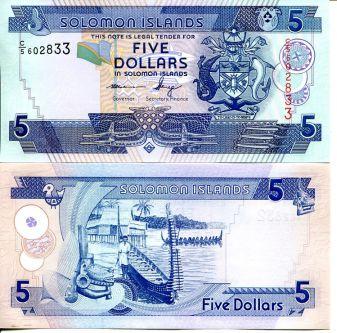 5 долларов 2006 год Соломоновы острова