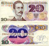20 злотых 1982 год Польша