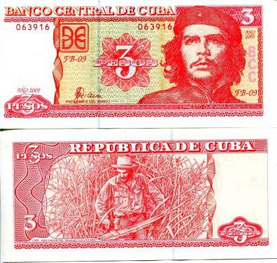 3 песо 2004 год Куба