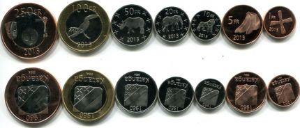 Набор монет Катанга 2013 год