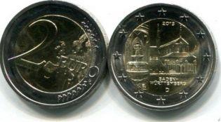 2 евро 2013 год (Баден-Вюртемберг монастырь) Германия