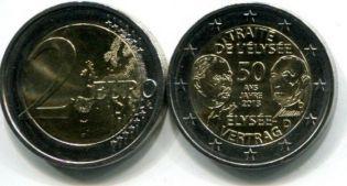 2 евро 2013 год (Елисейский договор) Германия