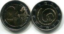 2 евро 2013 года (пещера Постойнска-Яма 800 лет) Словения
