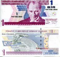 1 лира Турция 2005 год