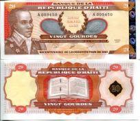 20 гурд 2001 год (200 лет конституции) Гаити