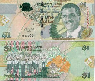 1 доллар 2015 год Багамские острова Л.Пиндлинг