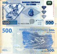 500 франков 2002 год Конго
