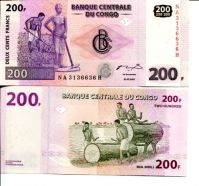 200 франков 2007 год Конго