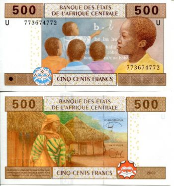 500 франков 2012 год Западная Африка