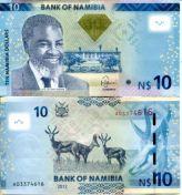 10 долларов 2012 год Намибия